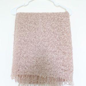 Zara Pale Pink Oversized Scarf/ Wrap